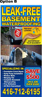 Leak Free Basement Waterproofing