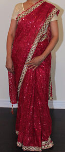 Gorgeous red saree for sale