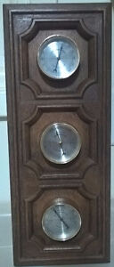 Vintage Springfield Weather Station Barometer Thermometer