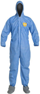 Large assortment of disposable lightweight coveralls