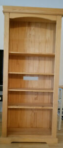 2 pine shelving wall units. In good condition.
