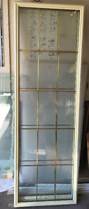 2 door double glazed  inserts with brass caning