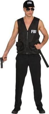Polizist Polizei Kostüm Weste Herren Polizeikostüm FBI SWAT Police