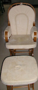 Glider rocking Chair with matching ottoman