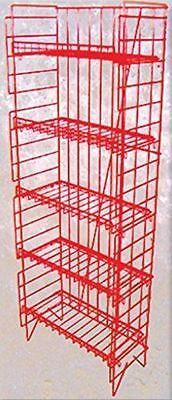 For Sale Floor Snack Display Rack - 5 Adjustable Shelf Red