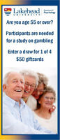 Study for Age 55+ Draw for $50 Giftcard