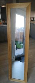 Full Length Free Standing Oak Mirror