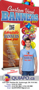 Banners from $20, Retractables from $48