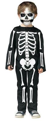 Jungen Skelett Schwarz Weiß Overall Halloween Kostüm Kleid Outfit 3-4 Jahre (Halloween Kostüm Weiße Overalls)