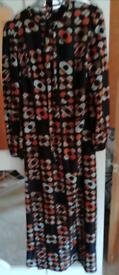 Retro long length long sleeved dress
