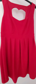 Lady' red fashion dress