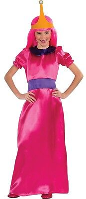 Child Cartoon TV Show Adventure Time Princess Bubblegum Bubble Gum Dress Costume