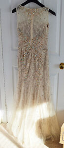 Beautiful gold nude evening prom dress London Ontario image 4