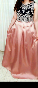 Long Rose Gold Dress Perfect for Weddings or Prom