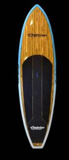 """Paddle Board timber/teal or pink 10'x32"""" surf $725 -Alleydesigns Currumbin Waters Gold Coast South Preview"""