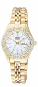 CITIZEN EQ0532-55D (LADIES GOLD TONE WATCH, LIKE NEW)