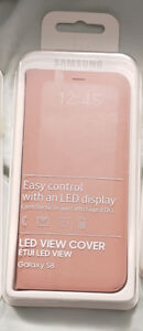 Pink led view samsung case for s8