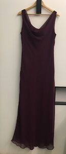 Long Bridesmaid dress / gown - wine colour, size 14
