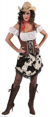 Cow Girl Kostüm Kleid Wilder Westen Saloon Damen Cowgirlkostüm Cowboy - Saloon Cowboy Kostüm