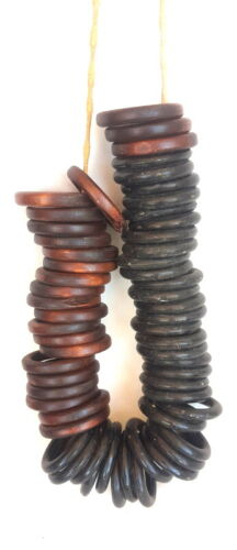 59 Pieces Natural Wooden Rings 23 Brown & 26 Black