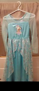 Like new Elsa Dress Girls Size 7/8