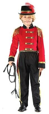 Italian Made Boys Ringmaster Showman Tailcoat Fancy Dress Costume Outfit 3-10yrs