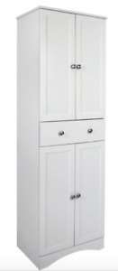 4 Door pantry with drawer - white