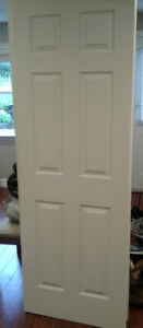 Colonial Door Slab, 32 x 80 primed and painted