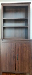 Two Brusali high cabinets with doors (brown)