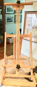 Two solid-wood art/artist easels