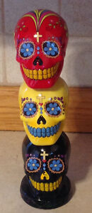 Day of the Dead tower of skulls money bank