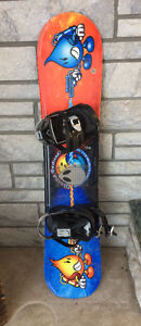 115cm kids snowboard with bindings