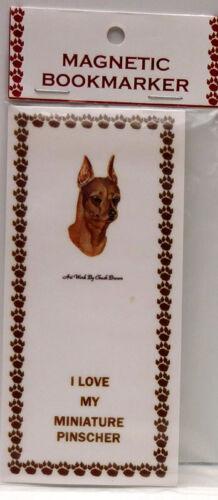 """MINIATURE PINSCHER. RED DOG MAGNETIC BOOKMARK,""""I LOVE MY MINIATURE PINSCHER"""""""