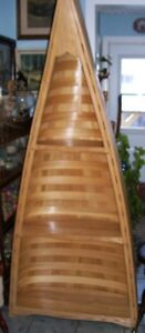 RARE 1/2 Canoe Shelf made by Former St Mary's First Nation Chief