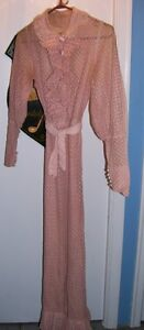 Old 1920's 1930's Flapper  era Pink Dress size 4 or 5