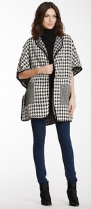 Insight NYC ~ Houndstooth Poncho Cape Coat ~ Size 6 $495