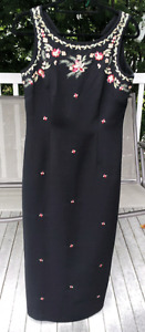 Long dress with embroidered detail