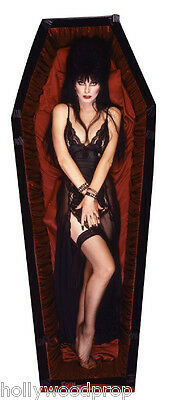 ELVIRA COFFIN HORROR HALLOWEEN LIFESIZE CARDBOARD STANDUP STANDEE CUTOUT POSTER