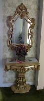 Table Console With Mirror