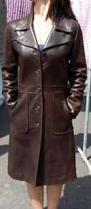 AWESOME Condition - Genuine Leather Coat / Manteau en cuir