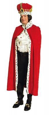 Königs Cape Prinzen König Herren Mütze Kostüm Umhang Krone Mütze Mantel Damen