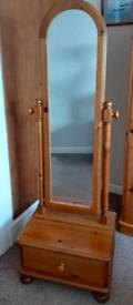 Ducal Victoria pine Cheval Mirror