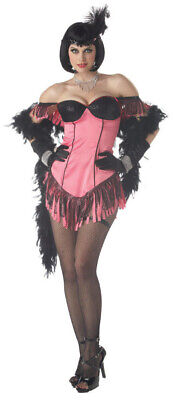 Brand New Pink Can Can Dancer Cabaret Artist Saloon Adult Costume](Saloon Costumes)