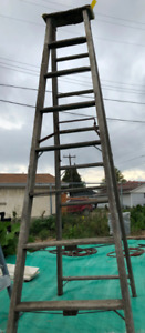 10 foot wooden ladder$20Phone:  780 977 0675