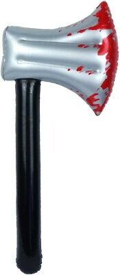 Inflatable Bloody Axe 40cm Blood Prop Halloween Decoration Fancy Dress UK SELLER