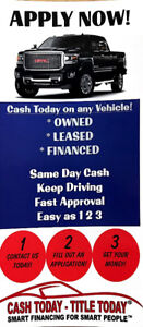 Short and Long Term Financing Available