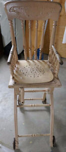 Antique convertible high chair for sale.