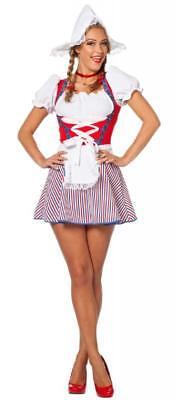 Holländerin Kostüm Kleid Frau Antje Tracht Dirndel Holländer Holland Haube Hut