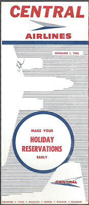 Central Airlines system timetable 12/1/58 [7084]