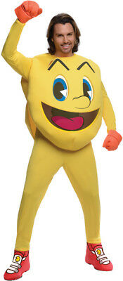 Pacman And Ghost Costumes (Mens Adult Funny Pac-Man And The Ghostly Adventures Deluxe Pac)